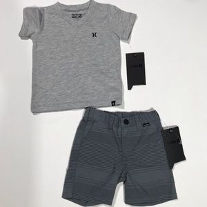 Baby boy Hurley outfit shorts t shirt 18 months
